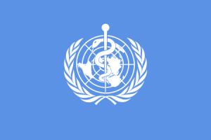 The WHO flag, via Wikimedia Commons